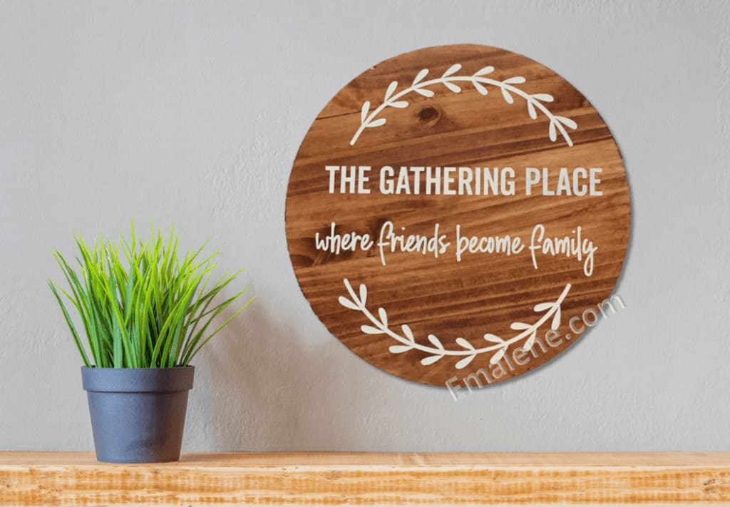 Gathering Place Wood Sign #wood #sign #handmade #custom #home #decor