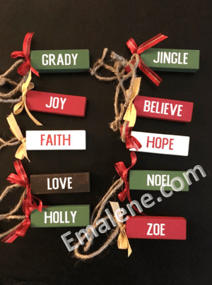 Jenga Ornaments #christmas #holiday #decor #ornaments #wood #personalized