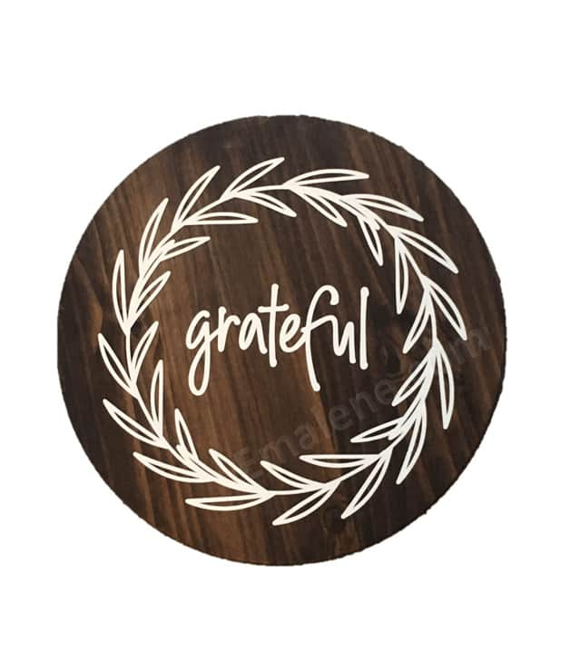Grateful Wooden Round 18″ #wood #sign #grateful #wall #decor #custom #handmade