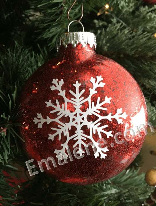 Red glitter snowflake ornament #ornament #christmas #holiday #snowflake #handmade #decor