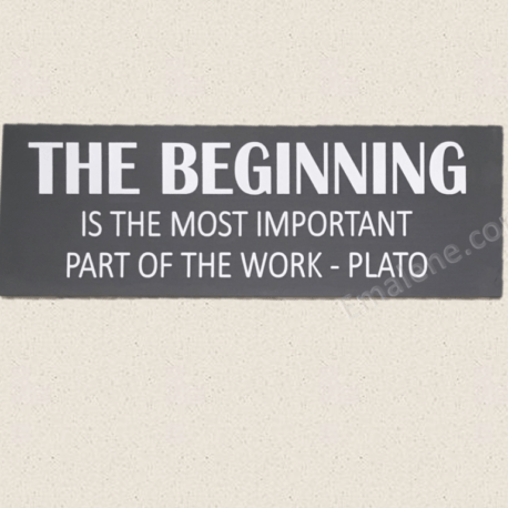 The Beginning Wood Sign – Emalene