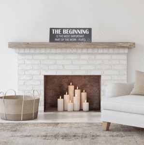 The Beginning Wood Sign #wood #sign #wooden #inspirational #saying #plato #homedecor