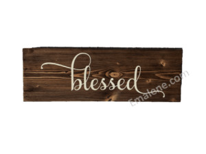 Blessed Handmade Wooden Sign - Emalene #handmade #custom #wooden #wood #walldecor #blessed