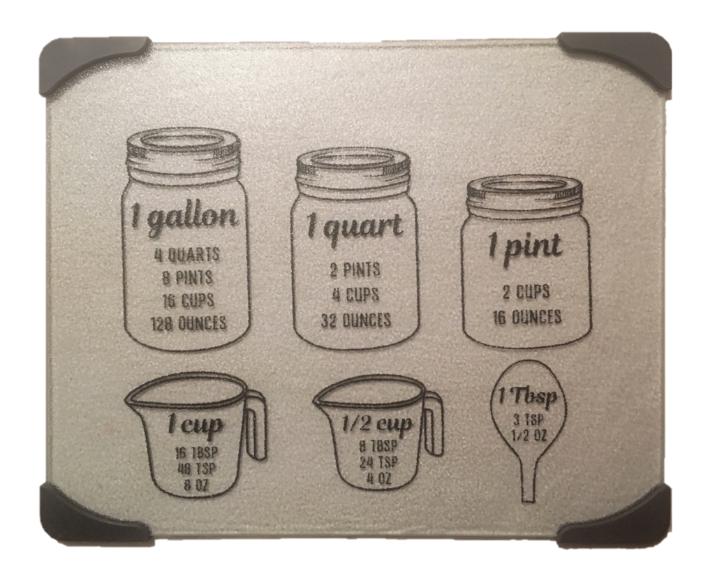 Clear Glass Cutting Board – Measurements
