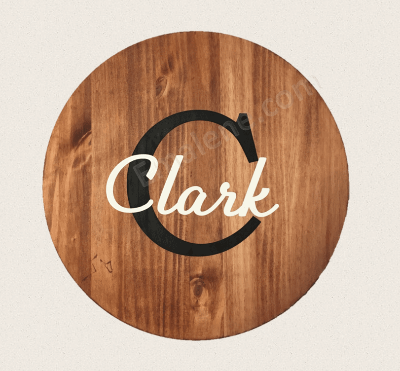 Monogram Wood Sign - Round #wood #sign #custom #personalize #monogram #initial