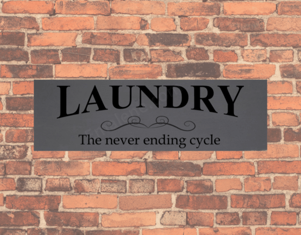 Laundry Never Ending Cycle #laundry #wood #handmade #decor #stain #paint #wooden #walldecor
