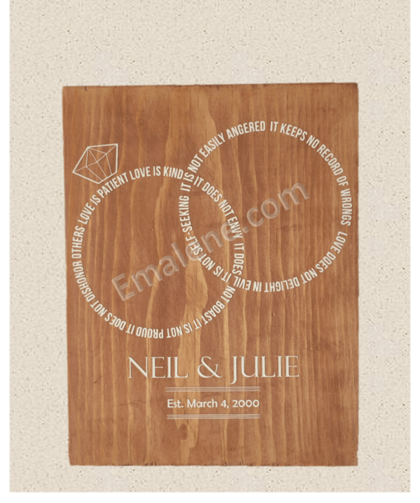Personalized Love is Patient Rings #wedding #wood #sign #marriage #homedecor #walldecor #woodensign #woodsign #handmade