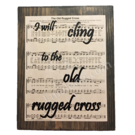 I will cling to the old rugged cross #oldruggedcross #cling #handmade #woodsign #woodensign #decor #walldecor #custom