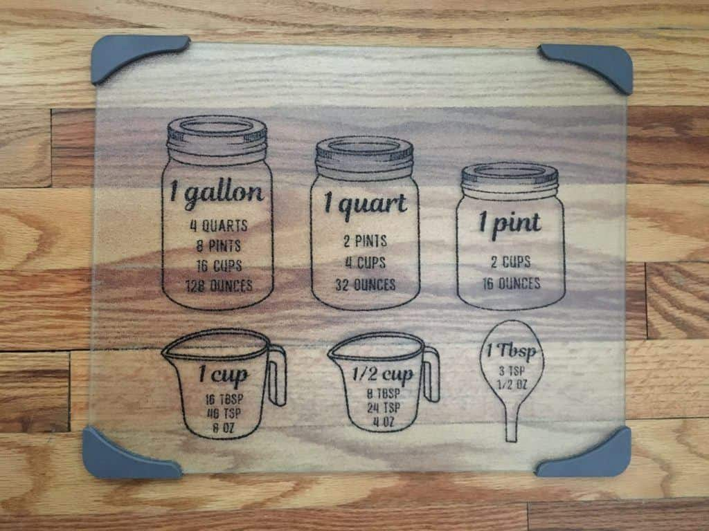 Glass Cutting Board #kitchen #measurements #cuttingboard #glass #handmade