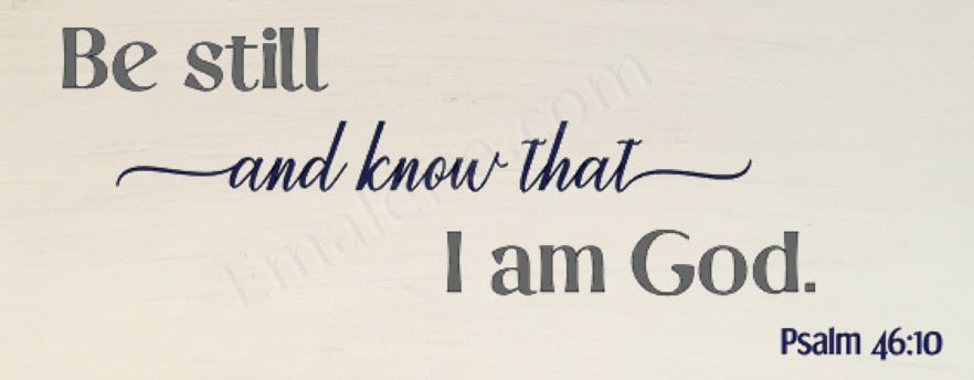 Be Still and Know Wooden Sign #homedecor #woodsign #woodensign #handmade #verse #bestill