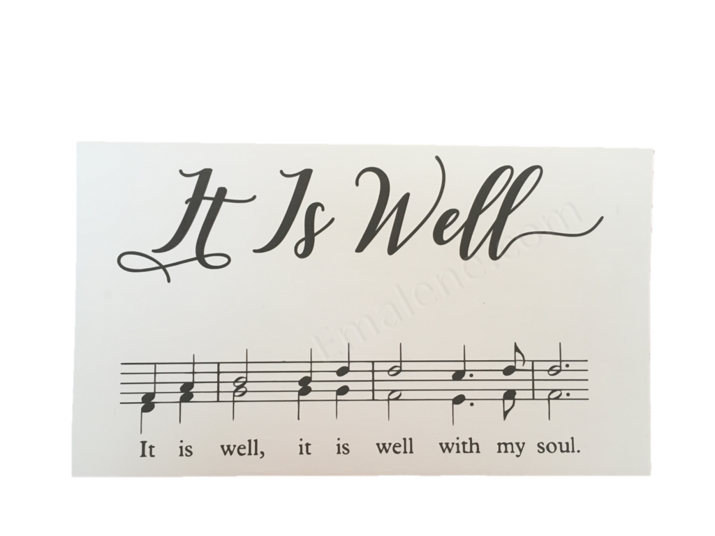 It Is Well Music Wood Sign