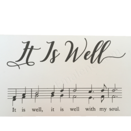 It Is Well Music Wood Sign #woodsign #wood #sign #music #itiswell #homedecor #walldecor #handmade #custom