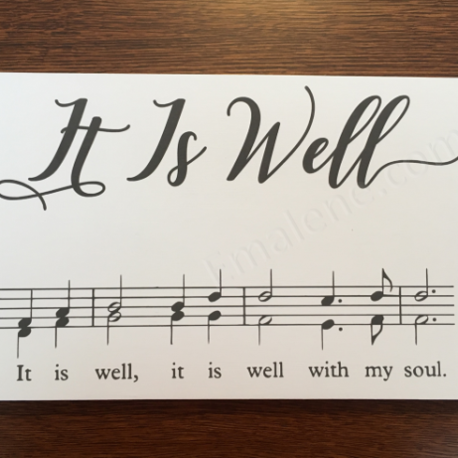It Is Well Music Wood Sign – Emalene.com