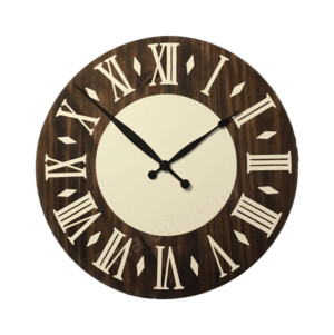 Wooden Wall Clock - Inside Circle #clock #large #wooden #wall #decor #custom #handmade