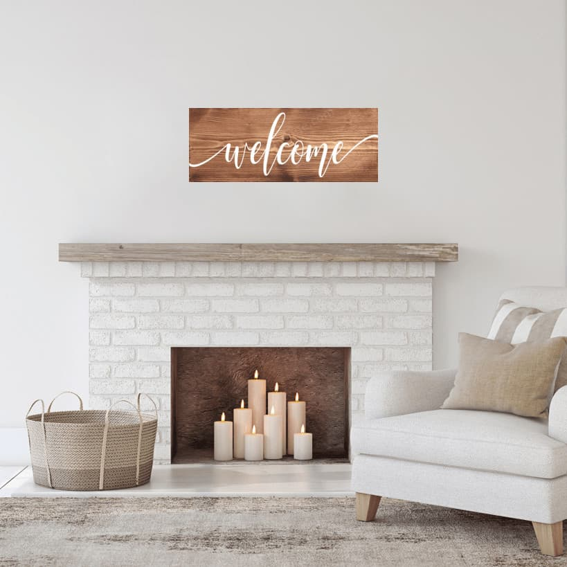 Welcome wooden sign #welcome #woodsign #woodensign #homedecor #walldecor #handmade #custom