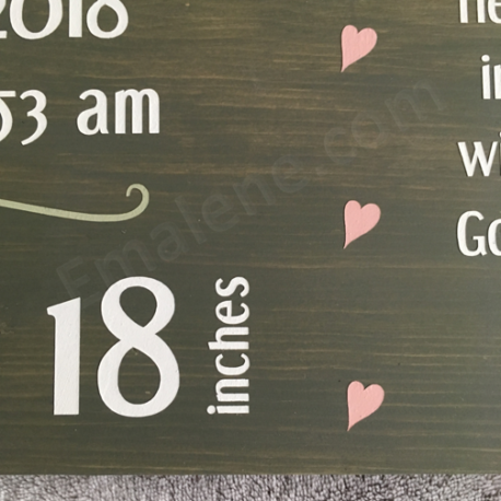 Personalized Birth Announcement Wooden Sign – Emalene.com