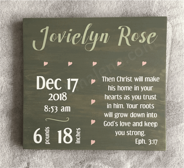 Personalized Birth Announcement Wooden Sign #handmade #woodsign #birth #baby #stat #announcement #sign #walldecor #subwayart #decor
