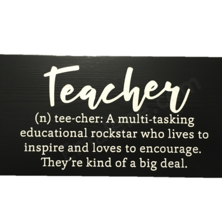 Teacher Definition Wooden Sign – Emalene.com